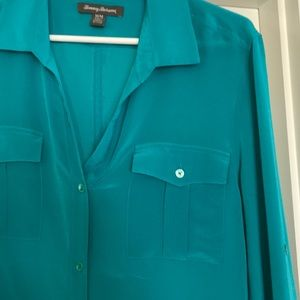 Tommy Bahama Tops - Tommy Bahama Silk blouse sz M, teal